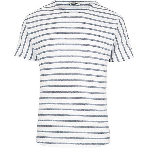 Blue Only & Sons stripe short sleeve T-shirt