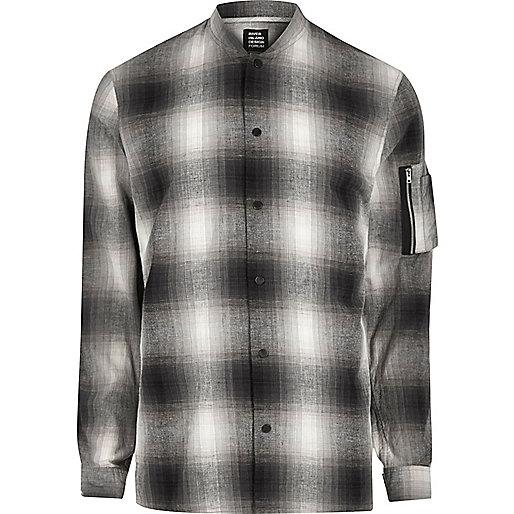 Grey Design Forum check shirt