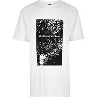 White Design Forum printed longline T-shirt