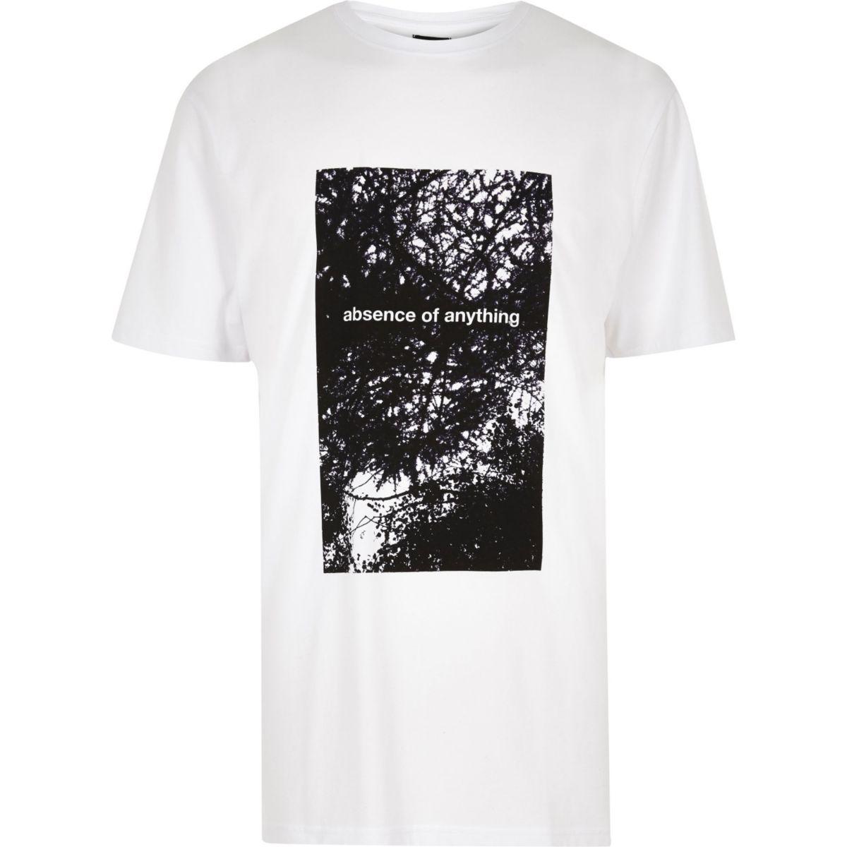 White Design Forum printed longline T-shirt