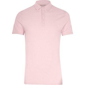 Roze aansluitend poloshirt