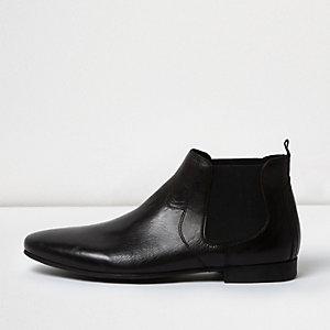 Zwart leren Chelsea laarzen