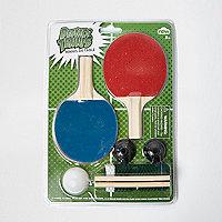 Desktop table tennis set