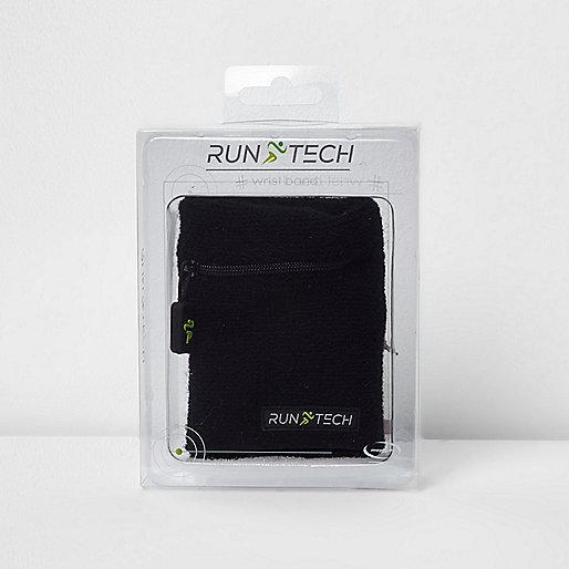 Black Run Tech knit sports sweatband