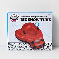 Red boxing glove snow float
