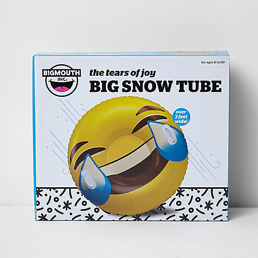 Yellow Emoji big snow tube