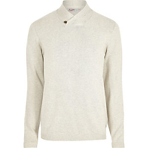 Jack & Jones cream knitted jumper