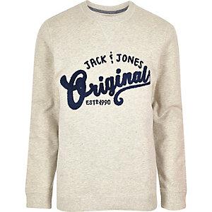 Light grey Jack & Jones originals sweatshirt