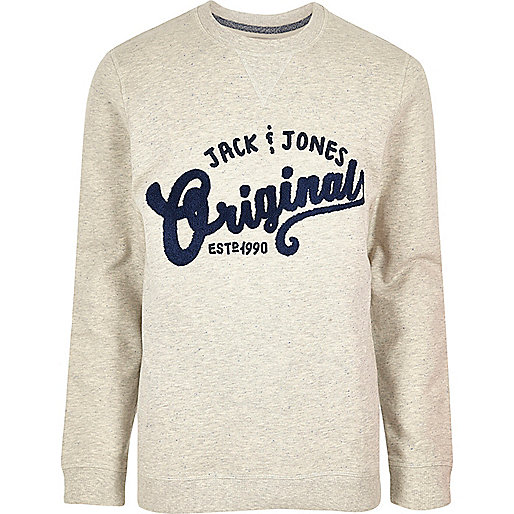 Light grey Jack & Jones originals sweatshirt