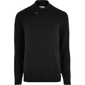 Jack & Jones black knitted jumper