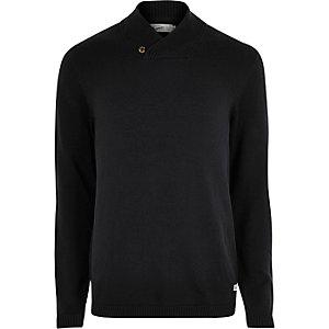 Jack & Jones zwarte gebreide pullover