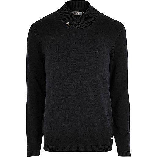 Black Jack & Jones black knitted jumper