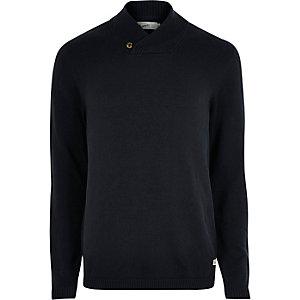 Jack & Jones marineblauwe gebreide pullover