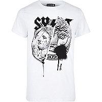 White Systvm coin print T-shirt