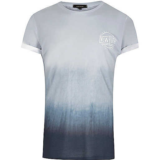 Blue faded NYC print T-shirt