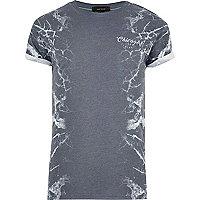 Grey side lightning print T-shirt