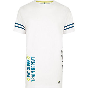 RI Active white print mesh sports T-shirt
