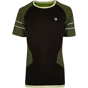 T-shirt de sport RI Active noir fluo sans coutures