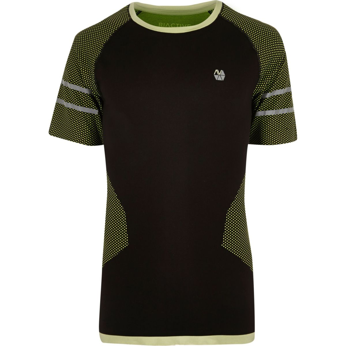RI Active fluro black seamless sports T-shirt