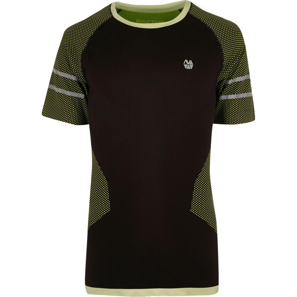 RI Active fluro black seamless sports T-shirt