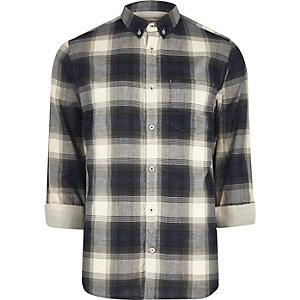 Blue casual check shirt