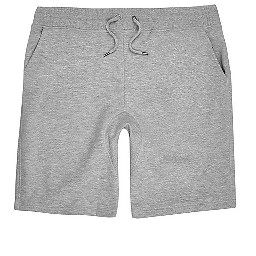 Grey marl jogger shorts