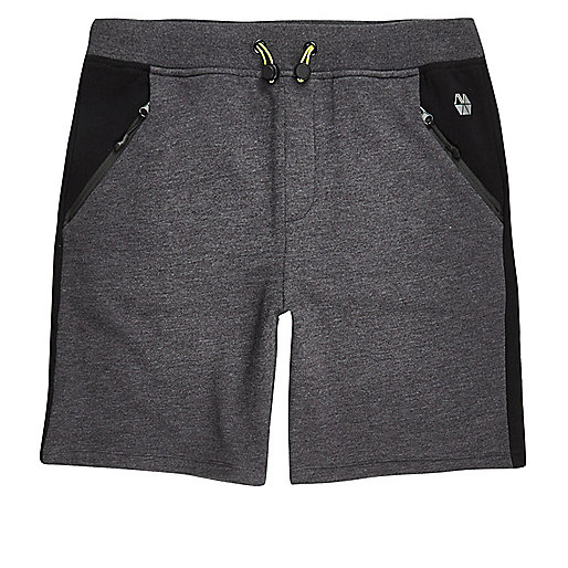 RI Active grey panel sports sweat shorts