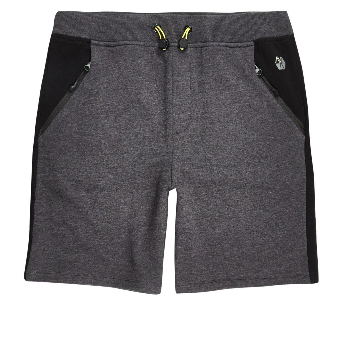 RI Active grey panel sports sweat shorts