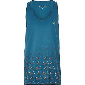 RI Active blue print gym vest
