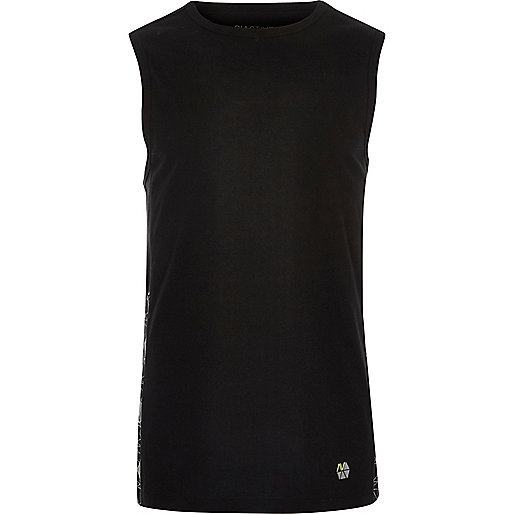 RI Active black mesh print gym tank top