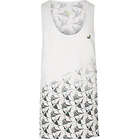 RI Active white print gym vest