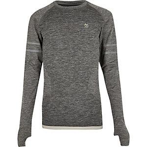 RI Active grijs naadloos sport-T-shirt
