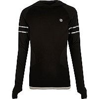 RI Active black  sports hooded T-shirt