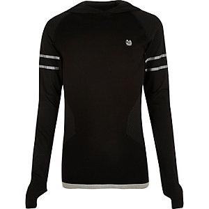 T-shirt de sport RI Active noir à capuche
