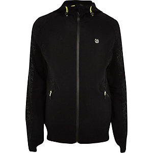 RI Active black fluro zip sports hoodie