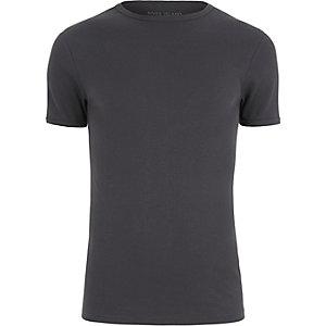 Figurbetontes T-Shirt in Grau