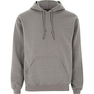Donkergrijze casual hoodie