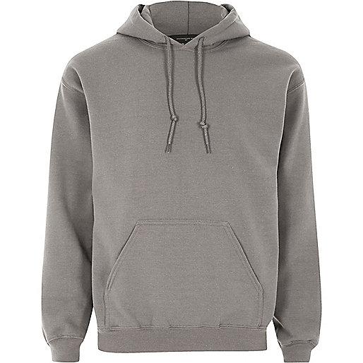 Dark grey casual hoodie