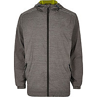 RI Active grey fluro lined zip sports jacket