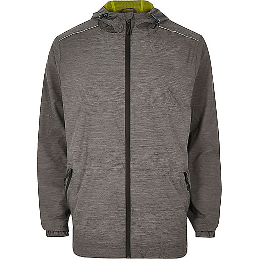 RI Active grey fluro lined zip sports jacket