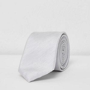 Cravate grise texturée