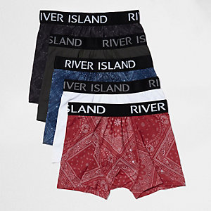 Navy blue bandana print boxers pack