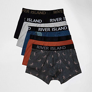 Red dinosaur print boxers pack