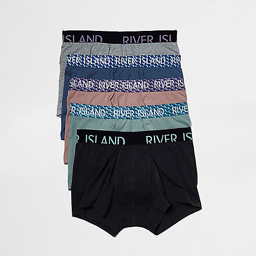 Pink geo print hipster boxers multipack