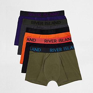 Purple multi colour boxers pack
