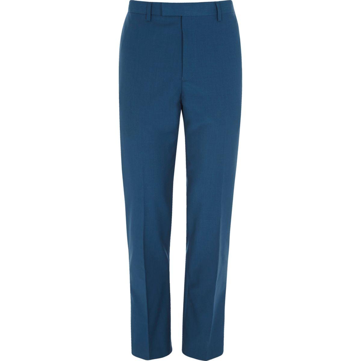 Blaue Anzughose in Slim Fit