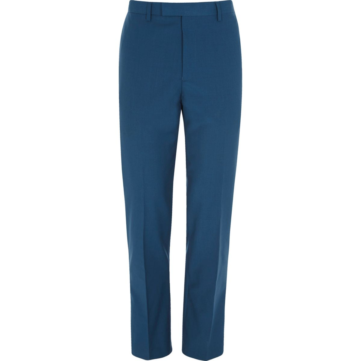 Blauwe slim-fit pantalon
