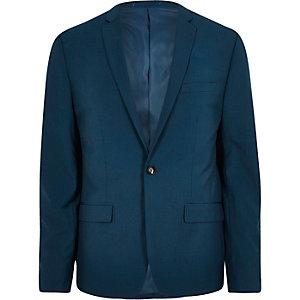 Blauw skinny-fit colbert