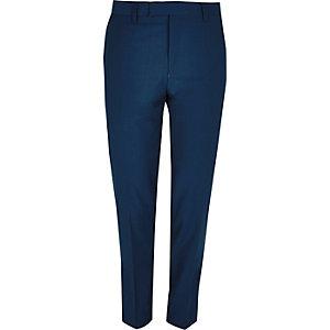 Blauwe skinny-fit pantalon
