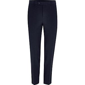 Pantalon de costume skinny court bleu marine